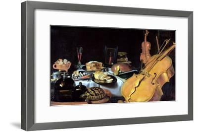 Still Life with Musical Instruments, 1623-Pieter Claesz-Framed Giclee Print