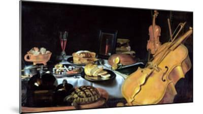 Still Life with Musical Instruments, 1623-Pieter Claesz-Mounted Giclee Print