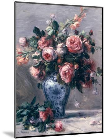 Vase of Roses-Pierre-Auguste Renoir-Mounted Premium Giclee Print