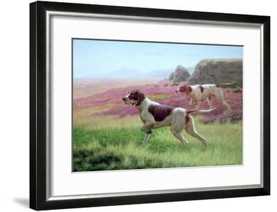 Pointers in a Landscape-Harrington Bird-Framed Giclee Print