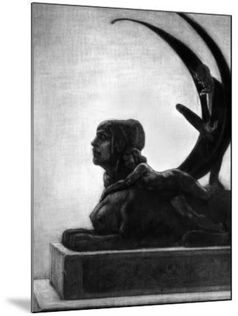 """Sphinx, Illustration from """"Les Diaboliques"""" by Jules Amedee Barbey D'Aurevilly 1874-Felicien Rops-Mounted Giclee Print"""