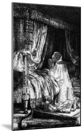 King David at Prayer, 1652-Rembrandt van Rijn-Mounted Giclee Print