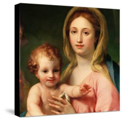 Madonna and Child with Two Angels, 1770-73-Anton Raphael Mengs-Stretched Canvas Print
