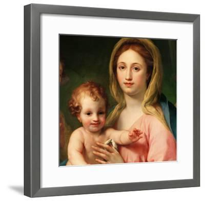 Madonna and Child with Two Angels, 1770-73-Anton Raphael Mengs-Framed Giclee Print