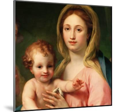 Madonna and Child with Two Angels, 1770-73-Anton Raphael Mengs-Mounted Giclee Print