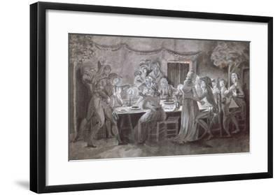 An Evening Wedding Meal-Jacques Bertaux-Framed Giclee Print