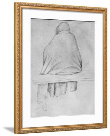 Monk Seated on a Bench, Seen from Behind-Antonio Pisani Pisanello-Framed Giclee Print