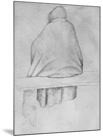 Monk Seated on a Bench, Seen from Behind-Antonio Pisani Pisanello-Mounted Giclee Print