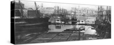View of the Port of Marseilles, Late 19th Century--Stretched Canvas Print