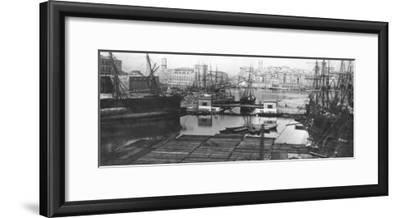 View of the Port of Marseilles, Late 19th Century--Framed Giclee Print