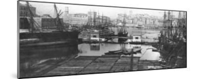 View of the Port of Marseilles, Late 19th Century--Mounted Giclee Print