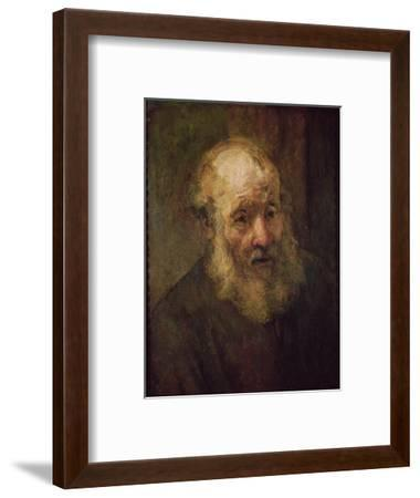 Head of an Old Man, circa 1650-Rembrandt van Rijn-Framed Premium Giclee Print
