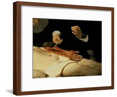 The Anatomy Lesson of Dr. Nicolaes Tulp, 1632-Rembrandt van Rijn-Framed Giclee Print