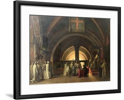 The Inauguration of Jacques de Molay into the Order of Knights Templar in 1295-Francois-Marius Granet-Framed Giclee Print