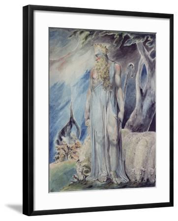 Moses and the Burning Bush-William Blake-Framed Giclee Print