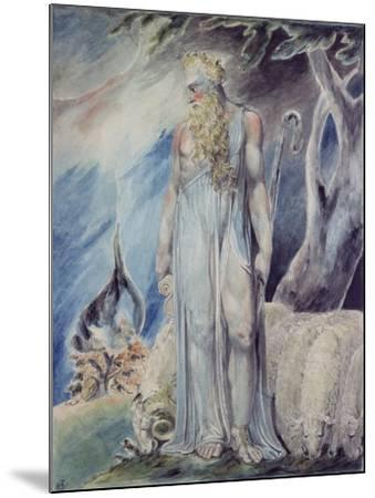 Moses and the Burning Bush-William Blake-Mounted Giclee Print