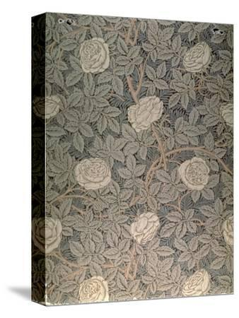 """Rose-90"" Wallpaper Design-William Morris-Stretched Canvas Print"