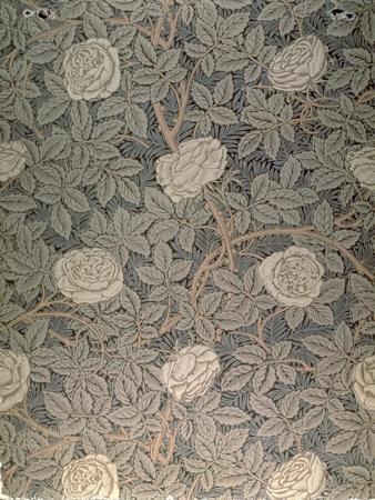 """""""Rose-90"""" Wallpaper Design-William Morris-Premium Giclee Print"""