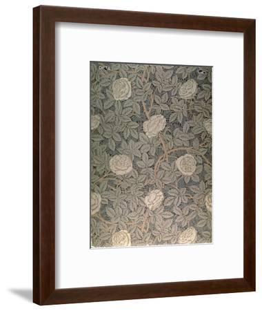 """Rose-90"" Wallpaper Design-William Morris-Framed Premium Giclee Print"