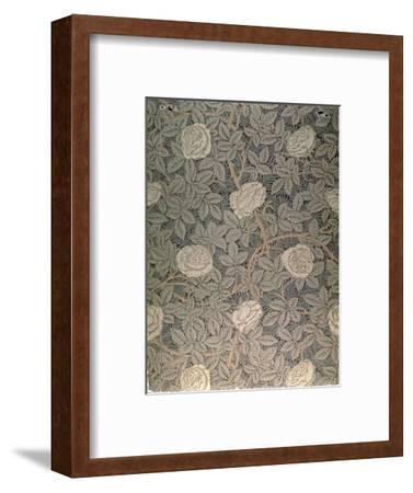 """Rose-90"" Wallpaper Design-William Morris-Framed Premium Giclee Print"