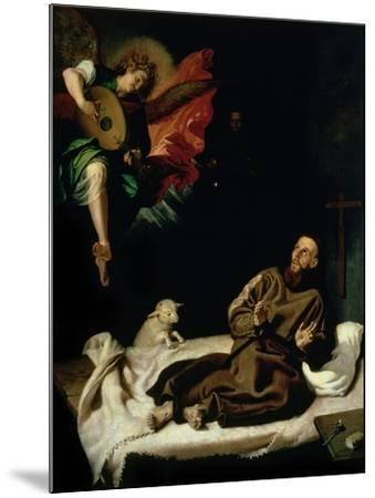 St. Francis Comforted by an Angel Musician-Francisco Ribalta-Mounted Giclee Print