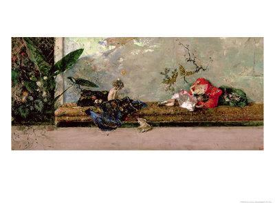 The Painter's Children in the Japanese Salon-Mariano Fortuny y Marsal-Framed Giclee Print