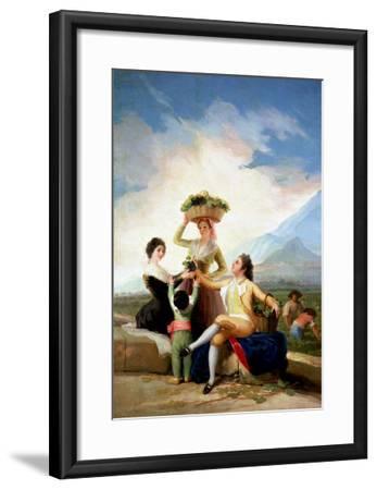 Autumn, or the Grape Harvest, 1786-87-Francisco de Goya-Framed Giclee Print