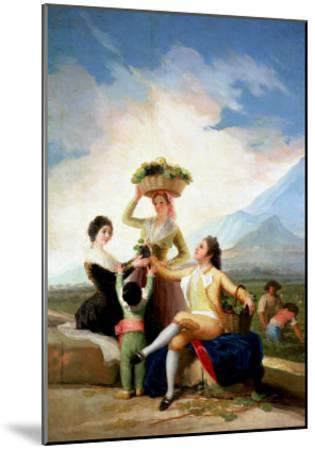 Autumn, or the Grape Harvest, 1786-87-Francisco de Goya-Mounted Giclee Print