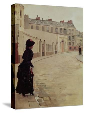 Waiting, Rue de Chateaubriand, Paris-Jean B?raud-Stretched Canvas Print
