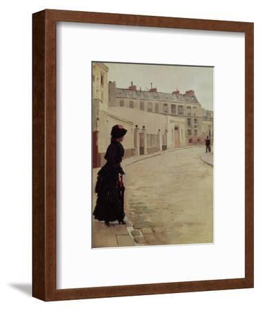 Waiting, Rue de Chateaubriand, Paris-Jean B?raud-Framed Premium Giclee Print