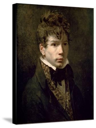 Portrait of the Young Ingres 1790s-Jacques-Louis David-Stretched Canvas Print