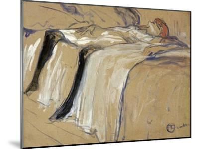 "Woman Lying on Her Back - Lassitude, Study for ""Elles"", 1896-Henri de Toulouse-Lautrec-Mounted Giclee Print"