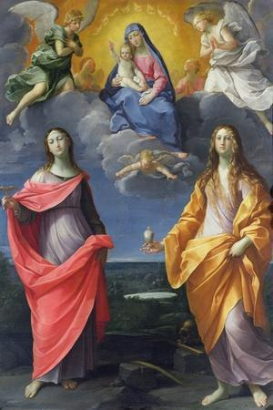 Madonna of the Snow-Guido Reni-Stretched Canvas Print
