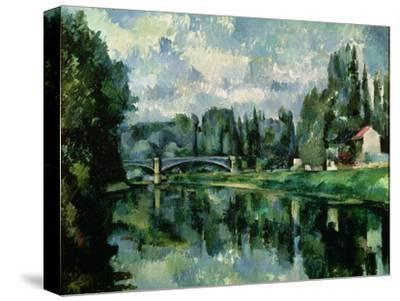 The Banks of the Marne at Creteil, circa 1888-Paul C?zanne-Stretched Canvas Print
