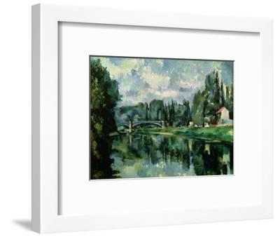 The Banks of the Marne at Creteil, circa 1888--Framed Premium Giclee Print