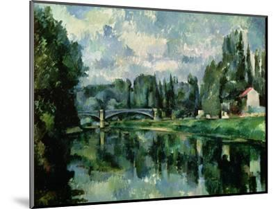 The Banks of the Marne at Creteil, circa 1888--Mounted Premium Giclee Print
