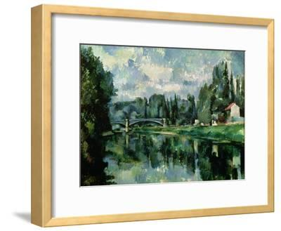 The Banks of the Marne at Creteil, circa 1888-Paul C?zanne-Framed Giclee Print