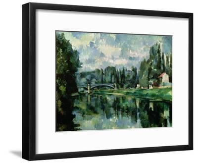 The Banks of the Marne at Creteil, circa 1888--Framed Giclee Print