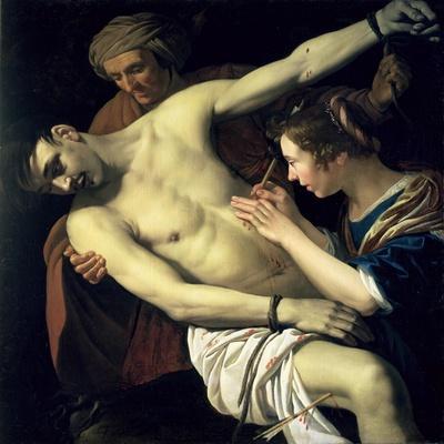 St. Sebastian and St. Irene, 1624-Jan Harmensz. Bylert-Stretched Canvas Print