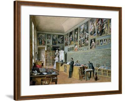 The Library, in Use as an Office of the Ambraser Gallery in the Lower Belvedere, 1879-Carl Goebel-Framed Giclee Print