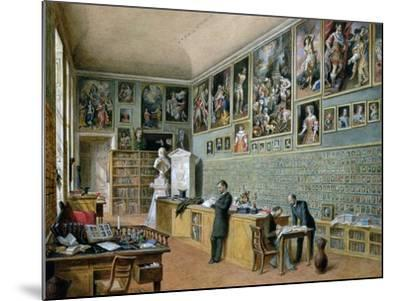 The Library, in Use as an Office of the Ambraser Gallery in the Lower Belvedere, 1879-Carl Goebel-Mounted Giclee Print