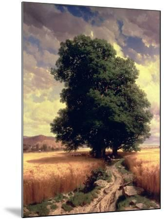 Landscape with Oaks, 1859-Alexandre Calame-Mounted Giclee Print