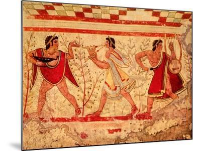 Etruscan Musicians, Copy of a 5th Century BC Fresco in the Tomb of the Leopard at Tarquinia--Mounted Giclee Print
