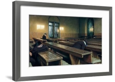 Feast Day at the Trivulzio Hospice at Milan, 1892-Angelo Morbelli-Framed Giclee Print