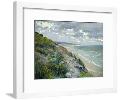 Cliffs by the Sea at Trouville-Gustave Caillebotte-Framed Giclee Print