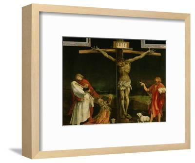 The Crucifixion, from the Isenheim Altarpiece, circa 1512-15-Matthias Gr?newald-Framed Premium Giclee Print