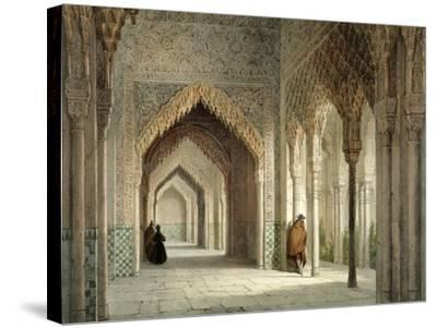 The Court Room of the Alhambra, Granada, 1853-Leon Auguste Asselineau-Stretched Canvas Print