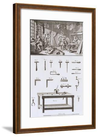 Plate XVIII: the Instrument Maker's Workshop and Tools-Robert Benard-Framed Giclee Print