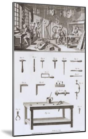Plate XVIII: the Instrument Maker's Workshop and Tools-Robert Benard-Mounted Giclee Print