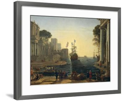 Ulysses Returning Chryseis to Her Father-Claude Lorraine-Framed Giclee Print
